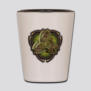 Green Celtic Triquetra Shot Glass