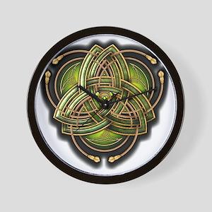 Green Celtic Triquetra Wall Clock
