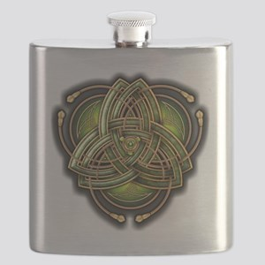 Green Celtic Triquetra Flask