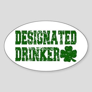 Designated Drinker Distressed Oval Sticker