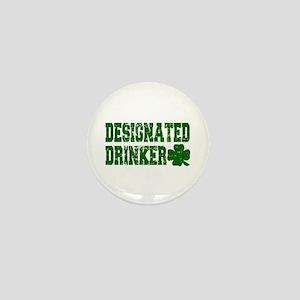 Designated Drinker Distressed Mini Button