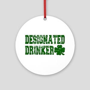Designated Drinker Distressed Ornament (Round)