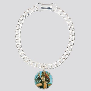 pin-up pirate Charm Bracelet, One Charm