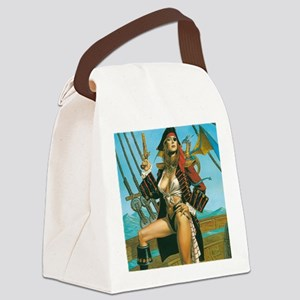 pin-up pirate Canvas Lunch Bag