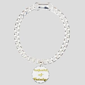 Property Of Natalya Female Charm Bracelet, One Cha