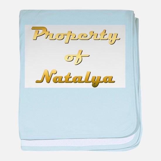 Property Of Natalya Female baby blanket