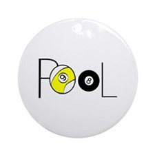 Word Pool Round Ornament
