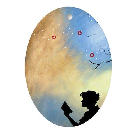 Literary Captivation Oval Ornament
