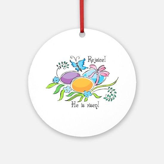 Easter Egg Rejoice Ornament (Round)