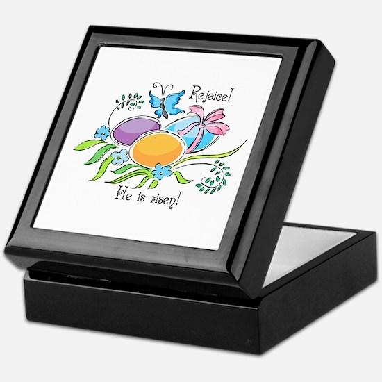Easter Egg Rejoice Keepsake Box