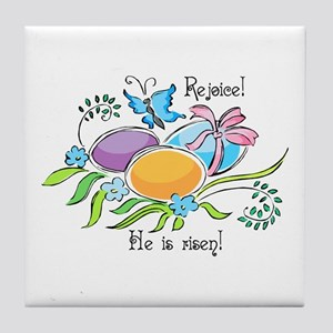Easter Egg Rejoice Tile Coaster