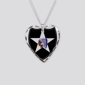 3rd Brigade, 2nd Infantry Div Necklace Heart Charm