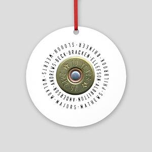 shotgun shell fixed Round Ornament