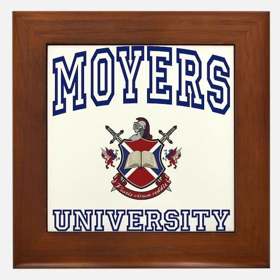 MOYERS University Framed Tile