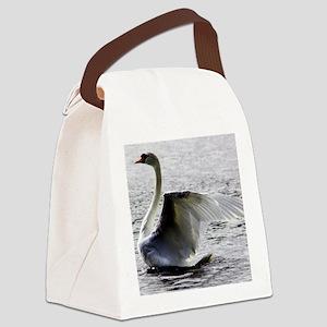 Swan Calendar January Canvas Lunch Bag