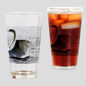 Swan Calendar January Drinking Glass