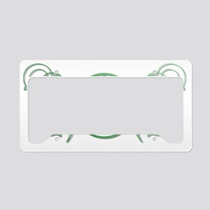 Pretty green pentacle License Plate Holder