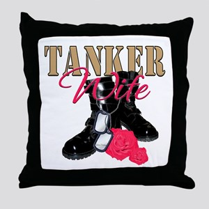 Tanker Wife Throw Pillow