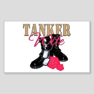 Tanker Wife Rectangle Sticker