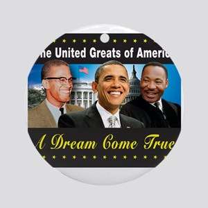 The United Greats Of America Round Ornament