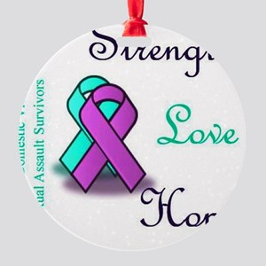 Strength Love Hope Round Ornament