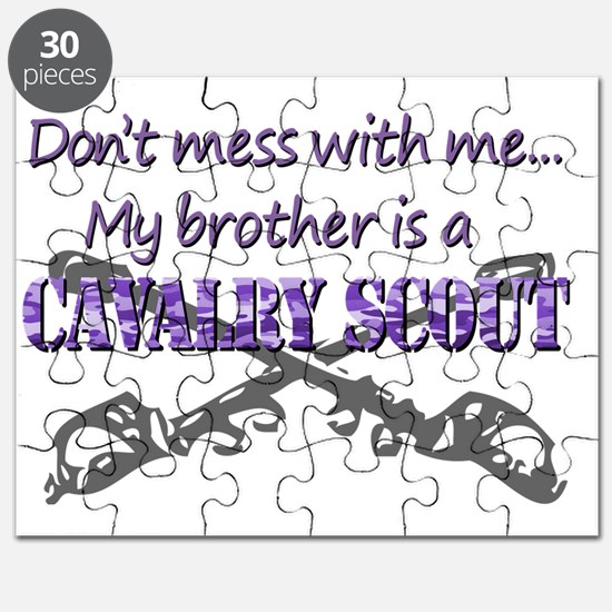 Proud Army Sister T-Shirt 19D Cav Scout Puzzle