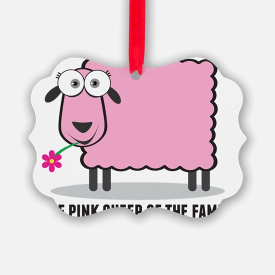 CRAZYFISH - pink sheep of the fam Ornament