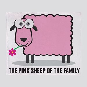 CRAZYFISH - pink sheep of the family Throw Blanket