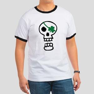 St Patricks Pirate Skull Ringer T
