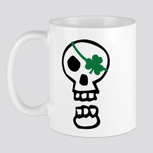 St Patricks Pirate Skull Mug