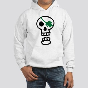 St Patricks Pirate Skull Hooded Sweatshirt