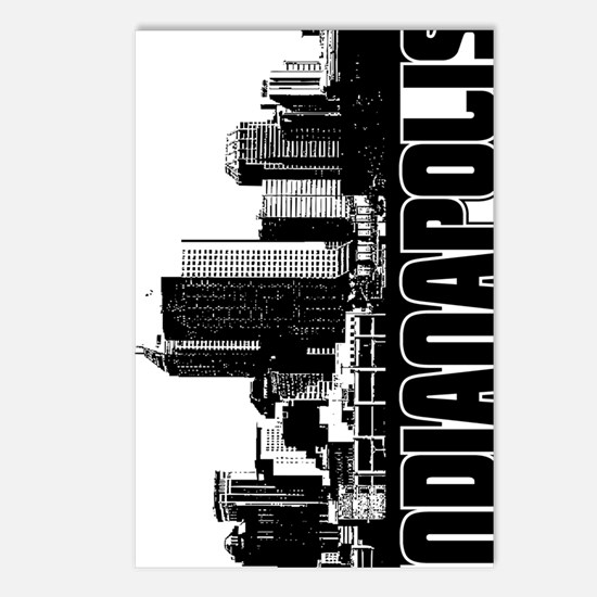 Indianapolis Skyline V Postcards (Package of 8)