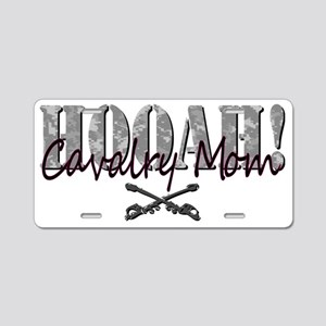 Cav Mom Army T-Shirt Aluminum License Plate