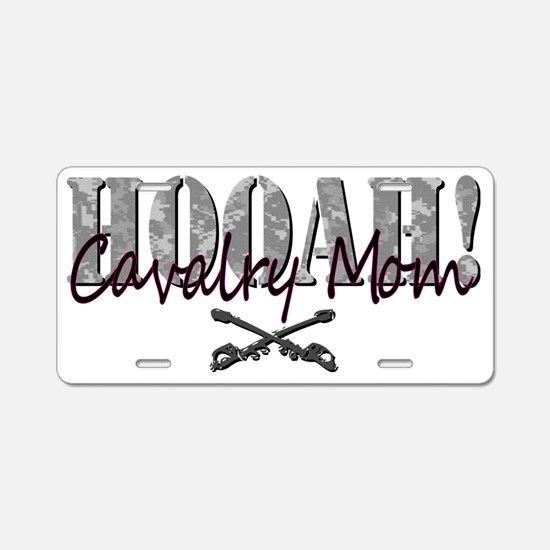 Cav Mom Army T-Shirt Aluminum License Plate