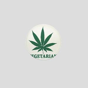 Vegetarian Cannabis Mini Button