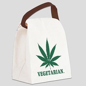 Vegetarian Cannabis Canvas Lunch Bag