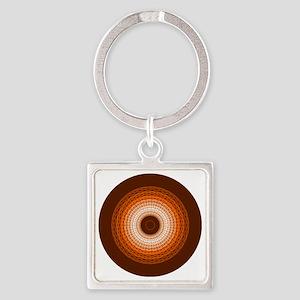 Braided Rug Square Keychain