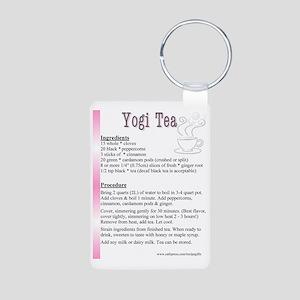 Yogi Tea Recipe Tea Pot Aluminum Photo Keychain