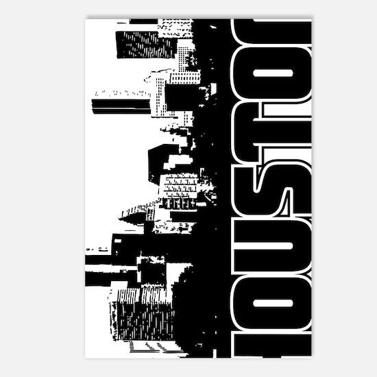 Houston Skyline V Postcards (Package of 8)