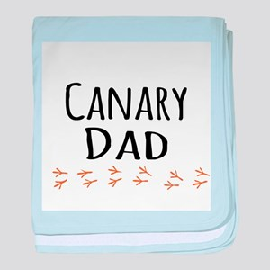 Canary Dad baby blanket
