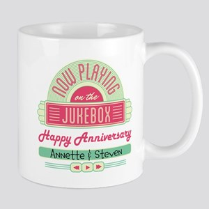 Personalized Anniversary Retro Jukebox Mug