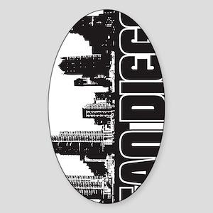 San Diego Skyline V Sticker (Oval)