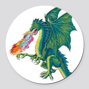 Dragons Lair B Round Car Magnet