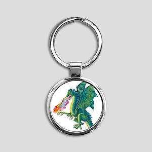 Dragons Lair B Round Keychain