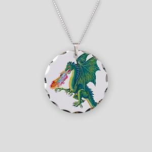 Dragons Lair B Necklace Circle Charm