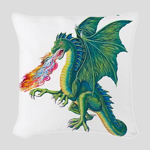 Dragons Lair B Woven Throw Pillow