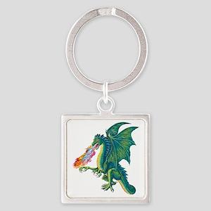 Dragons Lair B Square Keychain