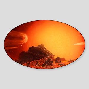 Future red giant Sun Sticker (Oval)