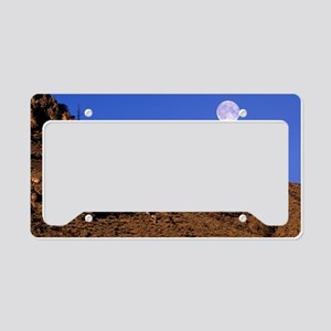 Full moon rising License Plate Holder