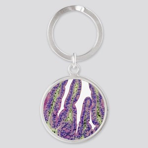 Gall bladder surface, light microgr Round Keychain